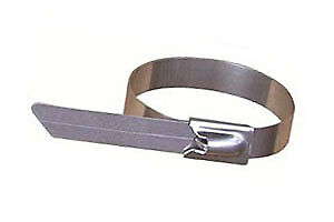 11 Heavy Duty Self locking Stainless Steel Cable Ties 350 Lbs Strength 100 Pack