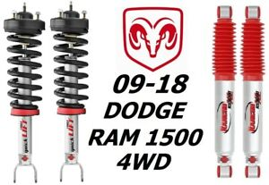 Rancho Front Quicklift Struts rs9000xl Rear Shocks For 09 18 Dodge Ram 1500 4wd