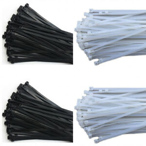 All Size Self locking Nylon Plastic Cable Ties Zip Tie Wraps Ratchet Black white