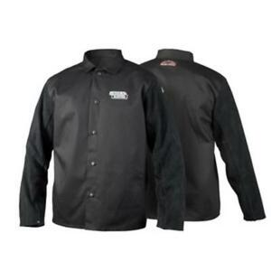 Lincoln Electric K3106 m Traditional Split Leather Sleeved Welding Jacket Md