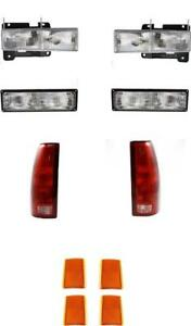 Headlights Turn Signal Reflectors Tail Lights For Chevy Truck 94 98 Tahoe 95 99