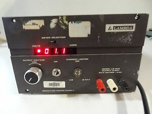 Lambda Regulated Power Supply Output 0 60v Model Lq 533 b