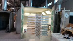 Cross Flow Closed Paint Booth