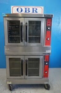 Vulcan Natural Gas Double Stack Convection Oven Great Condition Model Vc4gd 11d1