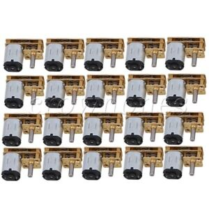 20pcs 10mm Silver Gm12 n20 200rpm Dc12v Micro Electric Dc Geared Motor