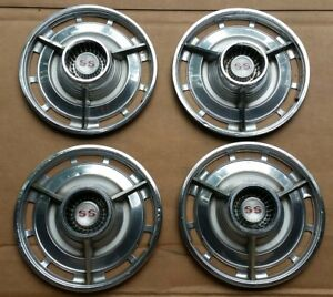 1963 Chevrolet Ss Spinner Hubcaps 1964 13 Inch Chevy Ii Super Sport Wheelcovers