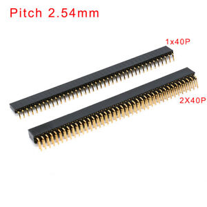 1x40p 2x40p 90 Right Angle Pin Female Header Pitch 2 54mm Strip Pcb Socket