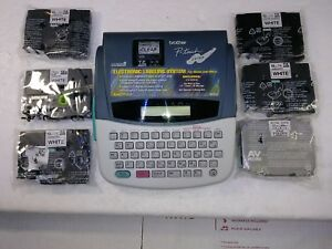 Brother P touch Pt 310 Electronic Labeling System Label Maker Tested With Tapes