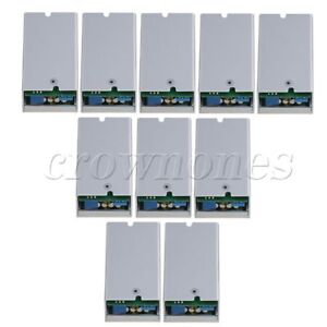 10x Silver Adjustable 200w 15a With Shell Dc dc 8 55v To 1 35v Step Down Module