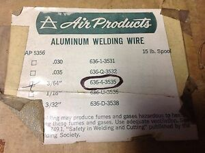 Air Products Aluminum Mig Wire 3 64