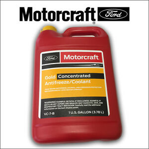 1 X Gallon Engine Coolant Antifreeze Gold concentrated Ford Motorcraft Vc 7 b