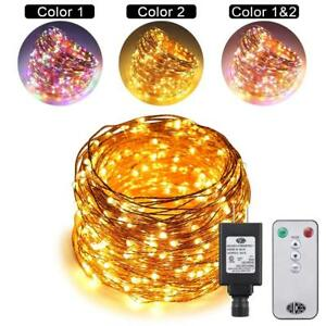 Ruichen Dual Color Led String Lights Color Changing Plug In 165ft 500leds 10
