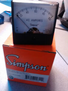 New Simpson 1257md 0 100 Ac Amperes Aca Analog Panel Meter 02622 2 5