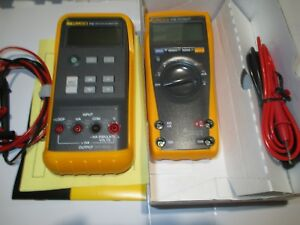 Pair Of Fluke 715 Calibrator 77 Iv Multimeter
