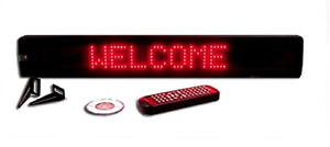 Red Led Programmable Display Semi outdoor Sign Wireless Remote 26 x4 New
