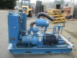 Quincy Model Qsi235wnw1 Rotary Screw 50 Hp Air Compressor With Only 13 000 Hours