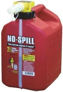 No spill 1405 Gas Can 2 5 Gal 13 1 2 In H Plastic Red