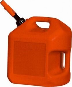 Midwest 5600 5 Gallon Red Plastic Epa Compliant Gas Can