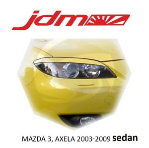 Eyebrows Eyelids Mazda 3 Sedan 4 d 2003 2008 2 Pcs Headlight Cover