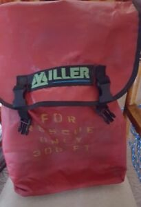Miller 280 Safety Rope W cross Arm Strap And Back Pack Used
