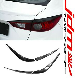 Eyebrows Eyelids Tail Light Cover Mazda 3 2013 2016 Speed Unpainted 2 Pcs