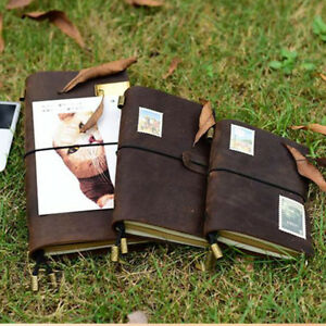 Notebook Diary Refillable Memo Journal Genuine Leather Travel Handmade Planner