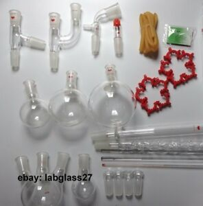 Chemistry Lab Glassware Kit lab Stand Clamp 35 Pcs 24 40 110v Hot Plate