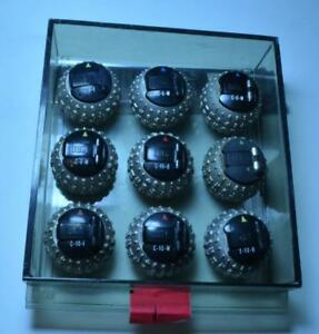 Set 9 Vtg Ibm Selectric Typewriter Ball Heads Font Balls Original Case Read Desc