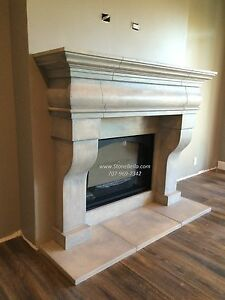 Fireplace Mantel Surround Cast Stone Old World Hearth Mantle Made In Usa