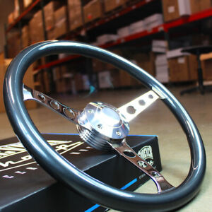 15 Sebring Mahogany Wood Steering Wheel 3 Spoke Grey