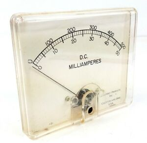 Vintage Panel Meter Dc Milliamperes Chester Products Inc