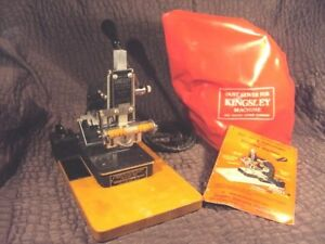 Kingsley Gold One Line Stamping Imprinting Hot Foil Machine W Manual
