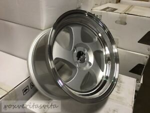 15 Swirl Tmb Style Wheels Rims Silver 4 Lug 4x100 Brand New Set Of 4 Step Lip