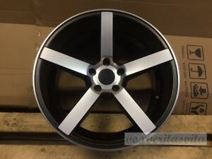 19 Black Machine Cv3 Style Stagger Wheels Rims Fits Lexus Is Is300 Is250 Is350