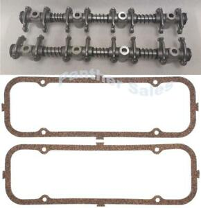Rocker Arm Shaft Assembly W Valve Cover Gaskets Ford Fe 330 352 360 390 410 428