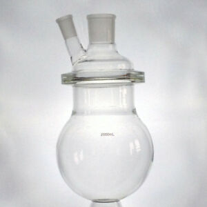 2l Reaction Vessel For Alembic Top 2000ml With Ground Glass Joints Lab Glass