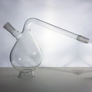 1l Gooseneck Retort 1000ml With Ground Glass Joints Borosilicate Lab Glass