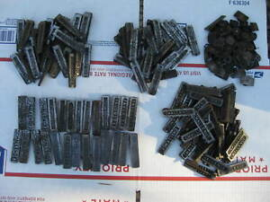 Letterpress Printing Printer Block Metal Type Assortment Quoins Large Lot