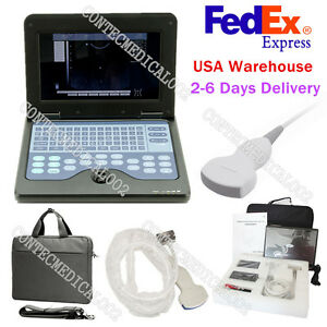 Portable Laptop Machine Digital Ultrasound Scanner 3 5mh Convex Probe usa Fedex