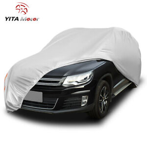 Yitamotor Suv Full Car Cover Waterproof Breathable All Weather Protection Silver