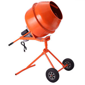 Portable 5cuft 1 2hp Electric Concrete Cement Mixer pick Up Only