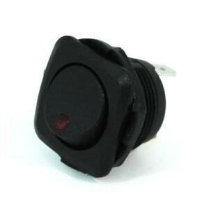 3pk Led Illuminated Round Rocker Switch Square Face Plate 20a on off spst red