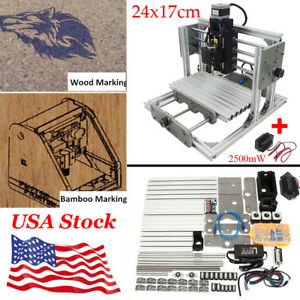 2500mw Laser Engraver 3 Axis Mini Cnc Engraving Router Milling Machine Kit
