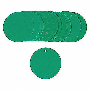 Brady Blank Tag 3 In plastic pk25 56934 Green