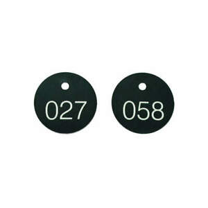 Accuform Plastic Numbered Tags 1 1 8 In 201 To 300 pk100 Tdg302bk Black white