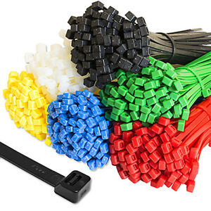 Cable Ties Tie Wraps Plastic Nylon Zip Ties Strong Extra Long All Size
