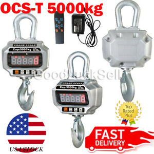 Ocs t 5000kg 10 000 Lb Heavy Duty Digital Crane Hanging Scale W Led Display Usa