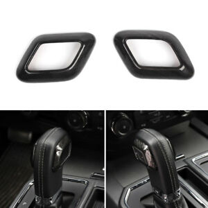 Car Gear Shifter Knob Cover Wood Style Molding Trim Abs For Ford F150 2015 2017