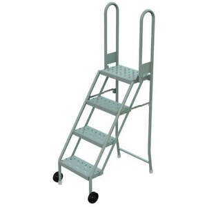 Tri arc Steel Tilt And Roll Ladder platfm 40 In H Kdmf104166 Gray