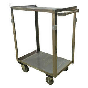 Gra Stainless Steel Utility Cart ss 28 Lx17 W 600 Lb Cap Zf124u403 Stainless
